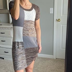 Style & Co patchwork sweater dress
